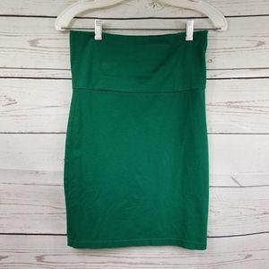 FOREVER 21 green bodycon stretchy mini skirt